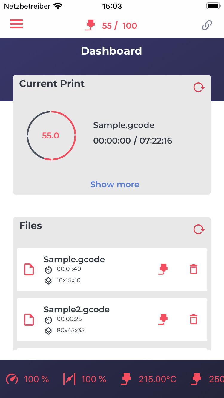 Aktiver Demo-Modus (iOS)