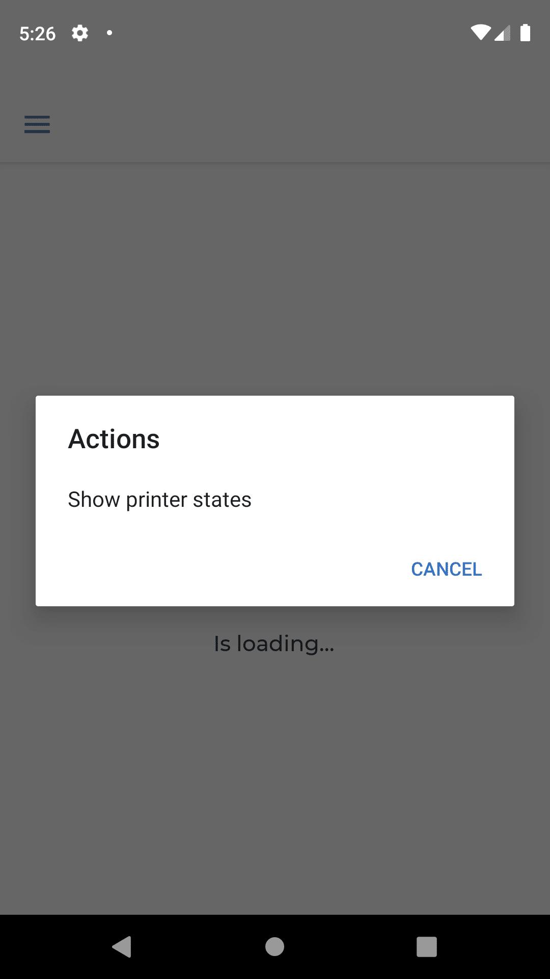 Auswahl der Aktion