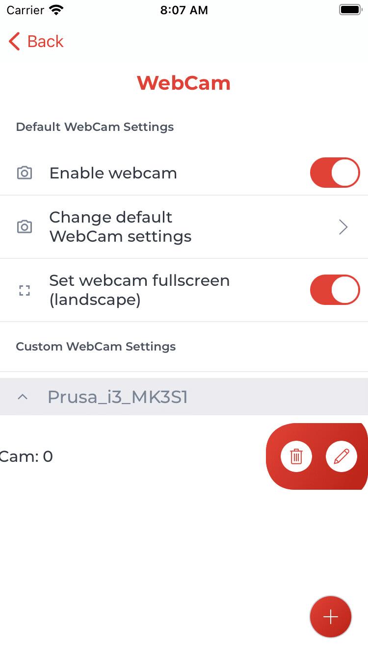 Erweiterte Einstellungen anlegen / ändern (iOS)