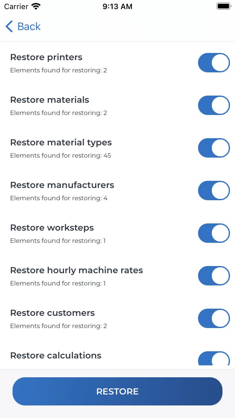 Benutzerdefinierte Wiederherstellung (iOS)
